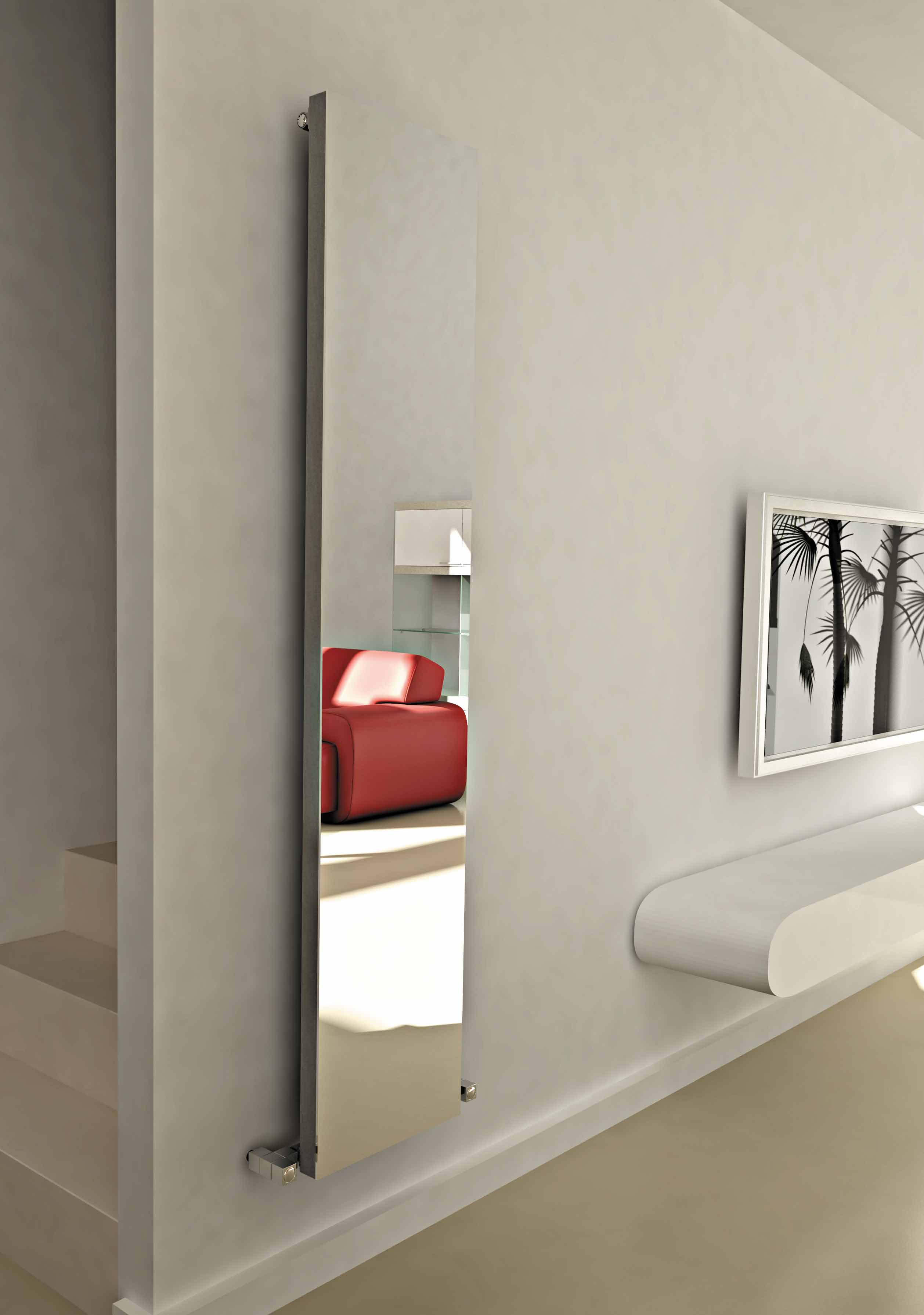Elvino mirror radiator carisa aluminium designer for Mirror radiator