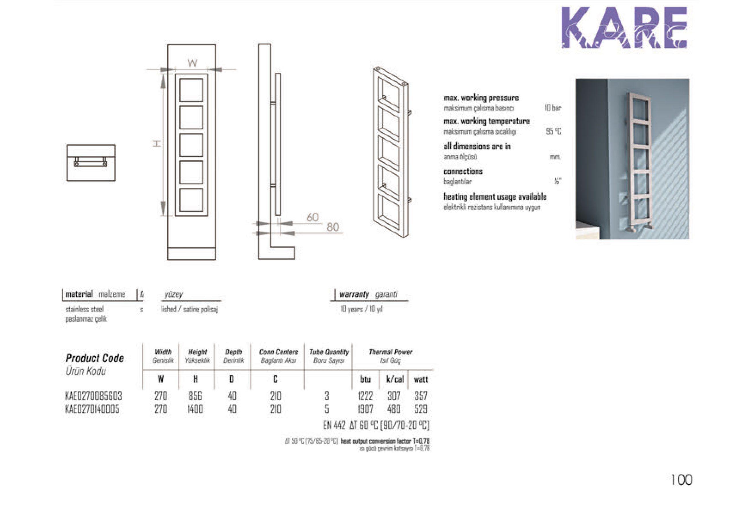 Kare Technical Carisa Aluminium Designer Radiators
